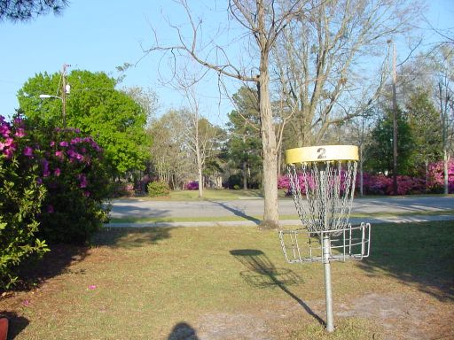 Alternate Basket for Hole #2 (#11) at Park Circle Disc Golf Course.