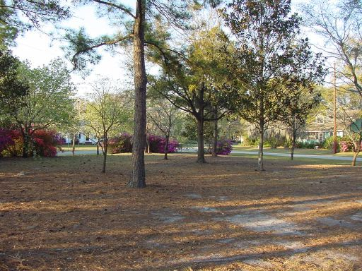 Fairway view of Hole #6 (#15) at Park Circle Disc Golf Course.